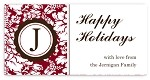 Covington {red} gift tag labels