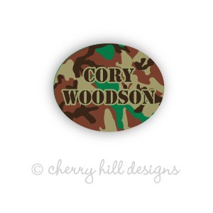 Mini Cool Camo waterproof name labels