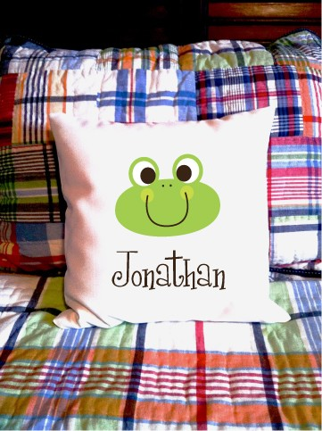 Frog - personalized pillow cover