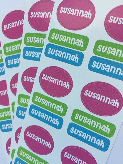 Peel 'n Stick clothing labels {sweetheart set} - set of 72