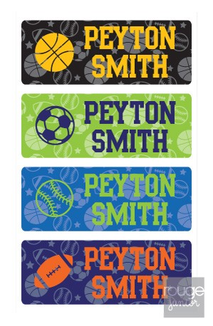all-star - mini iron-on labels - set of 64