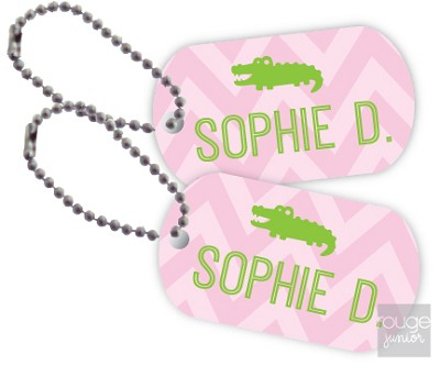 chevron mini tags - set of 2