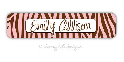 Safari [pink] waterproof name labels