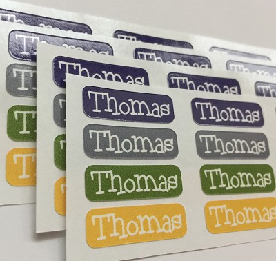 {rough n tumble} tiny name labels - set of 64