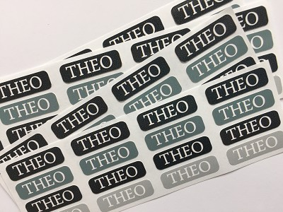 [skater boy] waterproof tiny name labels - set of 64