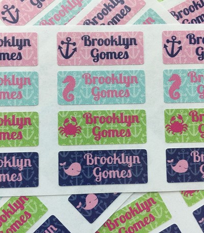 anchors - mini waterproof labels - set of 72