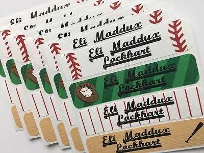 baseball waterproof name labels